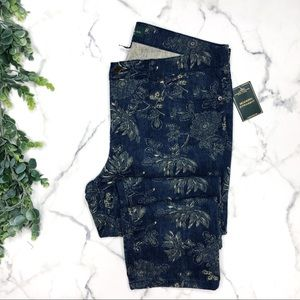 RALPH LAUREN Modern Straight Ankle Floral Jeans